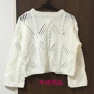 ジーユー(GU)の未使用 GUショート丈ニット S(ニット/セーター)