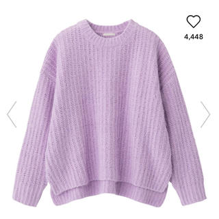 ジーユー(GU)のモールフェザーヤーンオーバーサイズセーター(ニット/セーター)