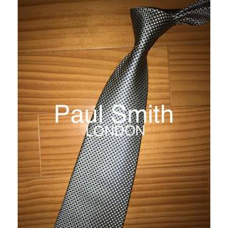 ポールスミス(Paul Smith)の美品 Paul Smith ブルー×イエローギンガムソリッド(ネクタイ)