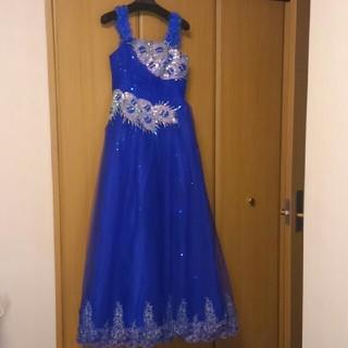 ブルースパンコールロングドレス