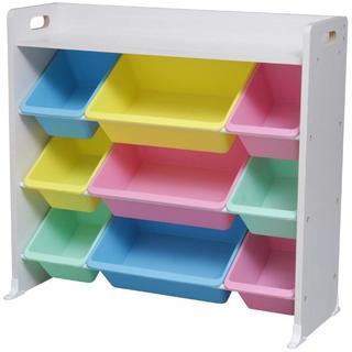おもちゃ箱 ラック 天板付  ホワイト