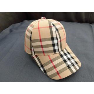 ノバチェック柄 キャップ キャメル 野球帽 ベースボール バイザー 帽子