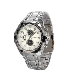 売れてます☆ウォッチ ステンレススチール クォーツ 腕時計(ホワイト)