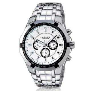KU006 送料無料♪メンズステンレス腕時計☆CURREN♪白面