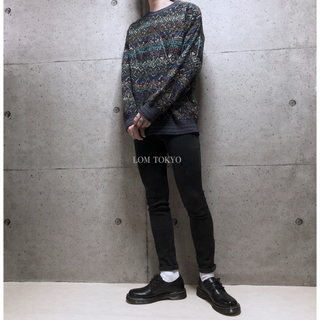 [used]ITALY crazy pattern knit.(ニット/セーター)
