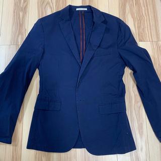 ザラ(ZARA)のZARA MAN テーラードジャケット ネイビー ブルー 48(テーラードジャケット)