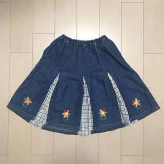 クラウンバンビ(CROWN BANBY)のクラウンバンビ女の子用 デニムスカート(130cm)(スカート)