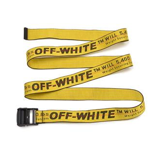 オフホワイト(OFF-WHITE)のOFF-WHITE オフホワイト  INDUSTRIALイエロー ベルト(ベルト)