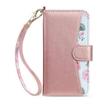 新品・激安!ローズゴールド iPhone7/ 8 手帳型 スマホケース 花柄