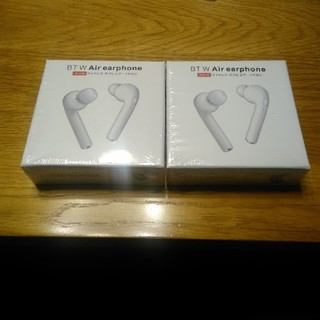 BT W Air earphone ブラック 2個