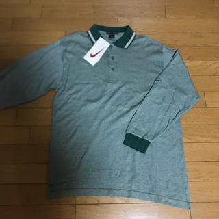 新品 ナイキ グリーン ストライプ ポロシャツ
