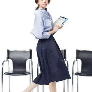 ジーユー(GU)のGU ステップドヘムフレアスカート(ロングスカート)
