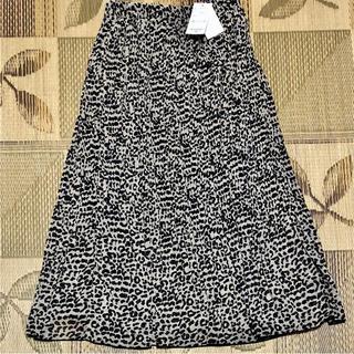 シマムラ(しまむら)の新品 シフォン レオパード柄 プリーツ ロングスカート しまむら(ロングスカート)
