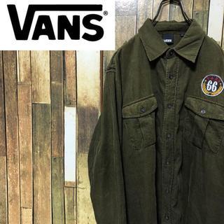 VANS - 【激レア】バンズVANS☆刺繍ロゴワッペンコーデュロイシャツ