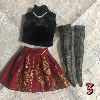 ③クリスマススカートセット(人形)