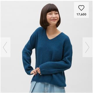 ジーユー(GU)のニット ブルー(ニット/セーター)