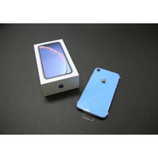アップル(Apple)のiPhoneXR 64GB BLUE【新品/SIMロック解除済】(スマートフォン本体)