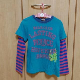 リトルベアークラブ(LITTLE BEAR CLUB)のLITTLEBEARCLUB重ね着風ロンT110センチ(Tシャツ/カットソー)