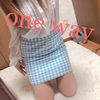 ワンウェイ(one*way)の90.one way ギンガムチェック タイトスカート(ミニスカート)