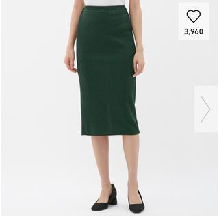 ジーユー(GU)のリブナローミディスカート(ひざ丈スカート)