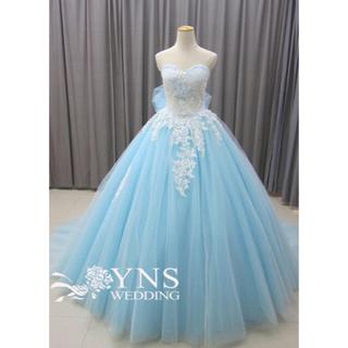 カラードレス  水色 ウェディングドレス