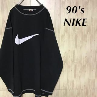 ナイキ(NIKE)の美品 90's NIKE スウェット デカロゴ トレーナー(スウェット)