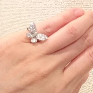 ひよこさん専用 ピンキーリング 18WGダイヤモンド(リング(指輪))