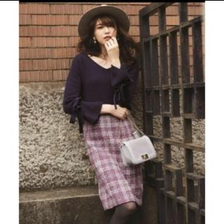 アプワイザーリッシェ(Apuweiser-riche)のモールチェックタイトスカート(ひざ丈スカート)