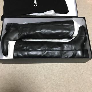 CHANEL - Chanel シャネル  ブーツ  ジョッキブーツ 36.5