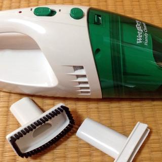 コードレス ハンディクリーナー 液体も吸引 グリーン(掃除機)
