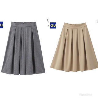 ジーユー(GU)のスカート2点セット(ひざ丈スカート)