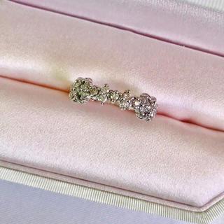 アーカー(AHKAH)のAHKAH アーカー マドンナリング k18 ホワイトゴールド ダイヤモンド(リング(指輪))