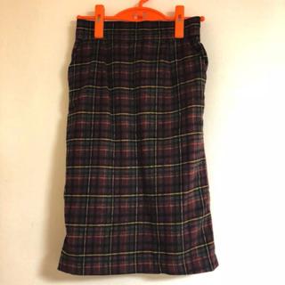 チェックタイトスカート(ひざ丈スカート)