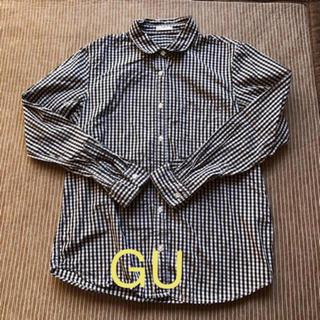 ジーユー(GU)のGU ギンガムチェック シャツ S  黒 白(シャツ/ブラウス(長袖/七分))