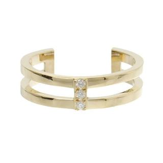 アーカー(AHKAH)のAHKAH アーカー ジョイントカットリング k18 ダイヤ ファランジリング(リング(指輪))