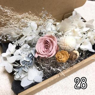 花材 セット28 プリザーブドフラワー ドライフラワー ミニツガなど 詰め合わせ(各種パーツ)