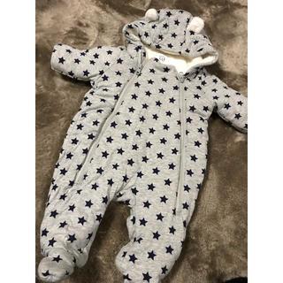ベビーギャップ(babyGAP)のbabyGAP 星柄クマ耳ジャンプスーツ60センチ(カバーオール)