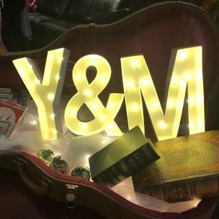 マーキーライト Y&M《電池なし・ハンドメイド》