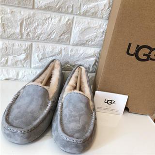 アグ(UGG)のUGG アグ アンスレー モカシン ライトグレー 25cm 正規品 新品未使用(スリッポン/モカシン)