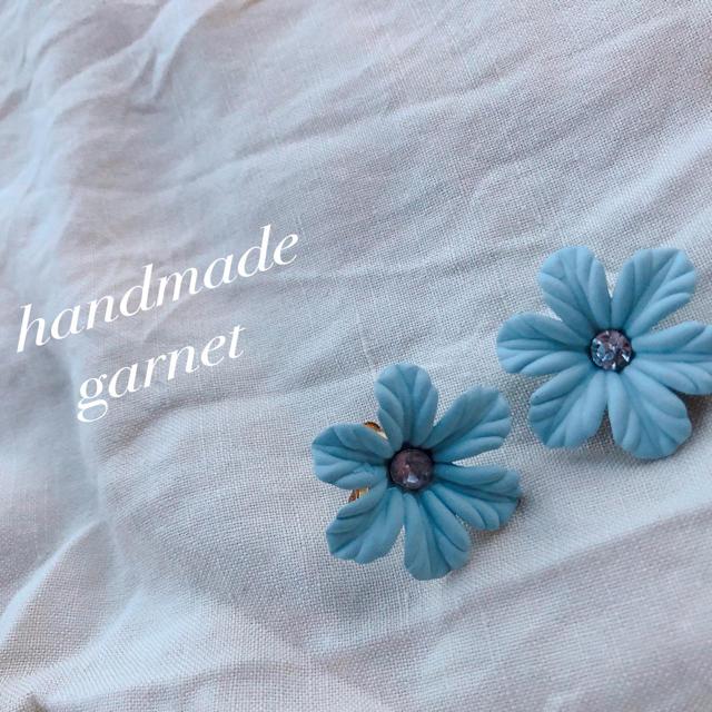 Kastane(カスタネ)の花ピアス、イヤリング ハンドメイドのアクセサリー(ピアス)の商品写真