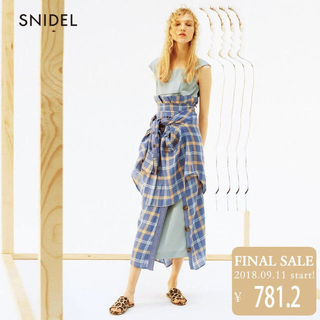snidel - 新品未使用 snidel サテン ワンピース タイト スナイデル