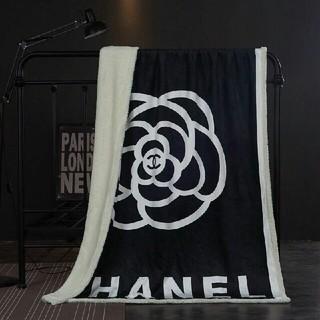 CHANEL値下げ☆厚手ひざ掛け 毛布 寝具高品質サイズ:150cmx200cm