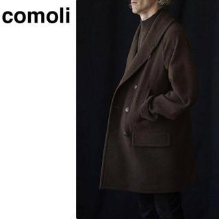 コモリ(COMOLI)の【破格】comoliヤクメルトンショールカラーコート(ピーコート)