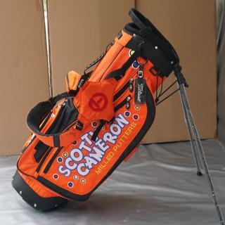 SCOTTY CAMERON キャディバッグ ゴルフバッグスタント式 オレンジ色(バッグ)