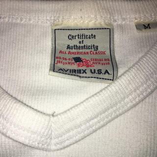 アヴィレックス(AVIREX)のAVIREX Vネック 白 M(Tシャツ/カットソー(七分/長袖))