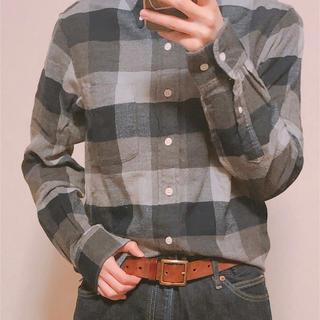 フランネルチェックシャツ