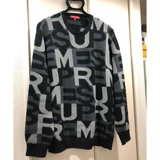 シュプリーム(Supreme)のsupreme BIG letters sweater BLACK L(ニット/セーター)