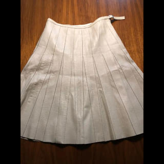 アトリエサブ(ATELIER SAB)の5%クーポン使えます‼️プリーツスカート【引っ越しセール】本革 フレアスカート(ひざ丈スカート)