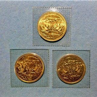 天皇陛下御在位60年 10万円金貨 3枚 (貨幣)