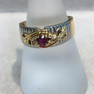 指輪 リングK18/Pt900ルビーダイヤ(リング(指輪))